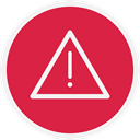 warn, danger, warning, Alert Crimson icon