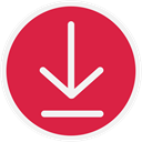 arrow down, download, Downloads Crimson icon