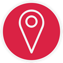 map marker, marker, Maps, Map Crimson icon