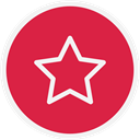 Favourite, star, Starred Crimson icon