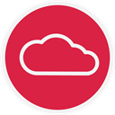 web, storage, Cloud Crimson icon
