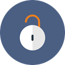 Unlock, Lock, protect, locked, privacy DarkSlateBlue icon