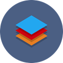 type, stack, Abstract, Data DarkSlateBlue icon