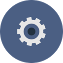 Cog, Control, settings, Options, system, Gear DarkSlateBlue icon