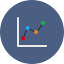 chart, pie, Analytics, Bar, statistics, Diagram, Analysis DarkSlateBlue icon