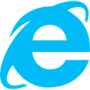 Ie, internet explorer DeepSkyBlue icon