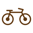 travel, tourism, Bicycle, solid Black icon