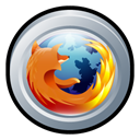 mozilla, Badge, Firefox, Browser Black icon