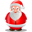 xmas, santa, claus, christmas Black icon
