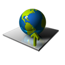 Ascend, planet, Ascending, Up, globe, earth, world, upload, increase, rise DarkSlateGray icon