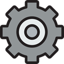 configuration, settings, Gear, Tools And Utensils, Business And Finance, cogwheel LightSlateGray icon