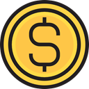 Cash, Currency, Dollar, Business, Business And Finance, coin, Money SandyBrown icon
