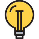 invention, illumination, Light bulb, Idea, electricity, technology SandyBrown icon