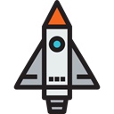 transport, Space Ship Launch, Space Ship, Rocket Launch, transportation, Rocket, Rocket Ship Black icon