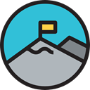 mountain, landscape, Goal, nature MediumTurquoise icon