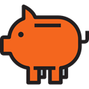 banking, Business, savings, Cash, Bank, piggy bank, Business And Finance Chocolate icon