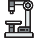 Observation, education, microscope, scientific, science, Tools And Utensils, medical Black icon