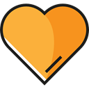 Heart, signs, Favorite, Favourite, shapes, rate, Shapes And Symbols SandyBrown icon