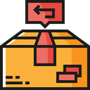 Box, packages, cardboard, return, packaging, Shipping And Delivery, Delivery, package SandyBrown icon