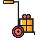 Shipping And Delivery, Tools And Utensils, deliver, Loads, trolley, Delivery Cart Black icon