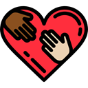 donation, Charity, miscellaneous, Heart, Solidarity Black icon