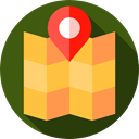 map pointer, Map, Gps, Maps And Location, pin, placeholder, Map Location, Street Map, Maps And Flags, locations, Map Point, position DarkOliveGreen icon