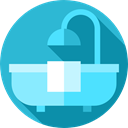 bathroom, Clean, hygiene, Bathtub, miscellaneous, Hygienic, washing, Bath MediumTurquoise icon