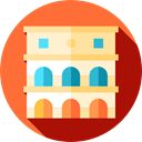 Building, italy, landmark, europe, Monuments, Architectonic, Colosseum, rome, Monument Tomato icon