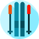 Skiing, ski, sports, Winter Sports, Winter Season, Sports And Competition, winter LightSkyBlue icon
