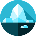 polar, glacier, nature, north pole MediumTurquoise icon