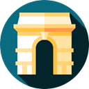 europe, Monuments, Architectonic, paris, france, landmark, Arc De Triomphe, engineering Teal icon
