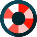 lifeguard, miscellaneous, Floating, lifebuoy, Lifesaver, Float, help, security DarkSlateGray icon