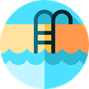 miscellaneous, Summertime, sports, Ladder, water, Swimming Pool Turquoise icon