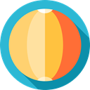 Ball, leisure, Beach ball, Fun, miscellaneous, summer MediumTurquoise icon