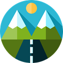 nature, highway, mountains, travel, Road, landscape MediumTurquoise icon