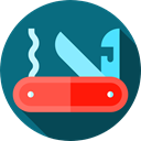 Switzerland, miscellaneous, Blade, Tools And Utensils, equipment, Swiss Army Knife Teal icon