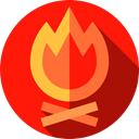 miscellaneous, hot, nature, Bonfire, Flame, Burn, Camping, campfire Red icon