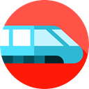 transportation, transport, train, Railway, Subway, public, travel Tomato icon