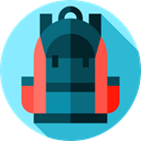 baggage, Bags, travel, Backpack, luggage LightSkyBlue icon