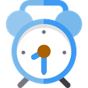 alarm clock, time, Clock, miscellaneous, timer SkyBlue icon
