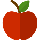 Healthy Food, Fruit, diet, Apple, Food And Restaurant, vegetarian, organic, food, vegan Firebrick icon