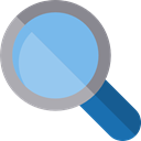 miscellaneous, magnifying glass, zoom, search, detective, Tools And Utensils, Loupe SkyBlue icon