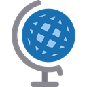 Earth Globe, Maps And Location, Planet Earth, Earth Grid, planet, Geography, Maps And Flags SteelBlue icon