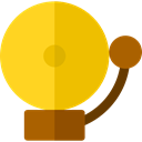 School Bell, notification, Tools And Utensils, bell, Alarm, miscellaneous Gold icon