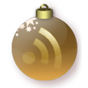 subscribe, gold, Rss, feed, christmas Maroon icon