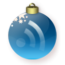 Blue, subscribe, Rss, feed, christmas Maroon icon