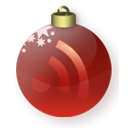 subscribe, feed, christmas, red, Rss Maroon icon