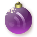 christmas, feed, purple, subscribe, Rss Maroon icon