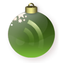 subscribe, feed, christmas, green, Rss Maroon icon