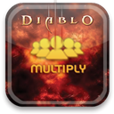 diablo, multiply Black icon